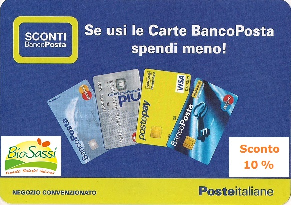 Sconto 10% se paghi con Carte BancoPosta